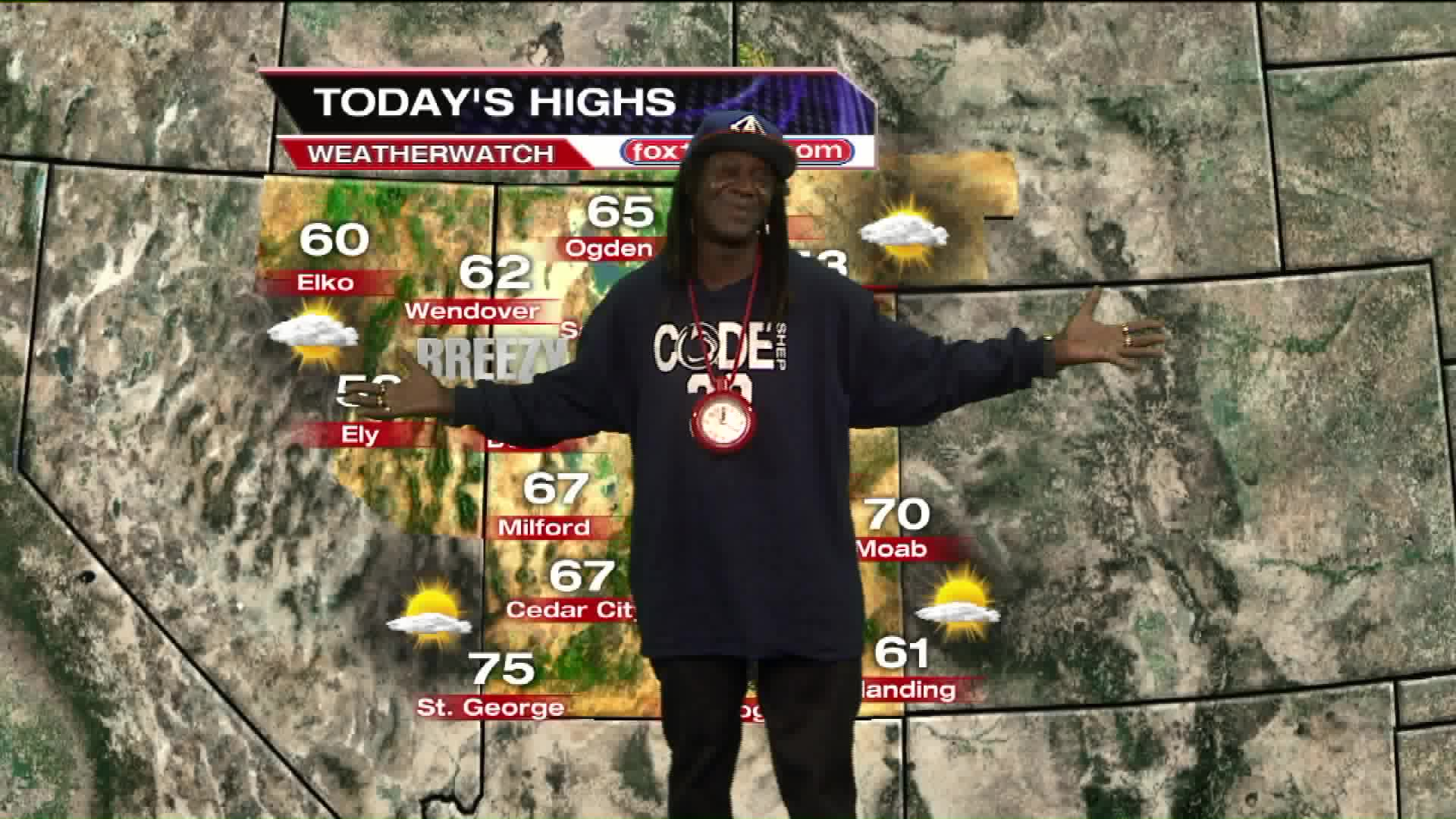 Flavor Flav Delivers Weather Report