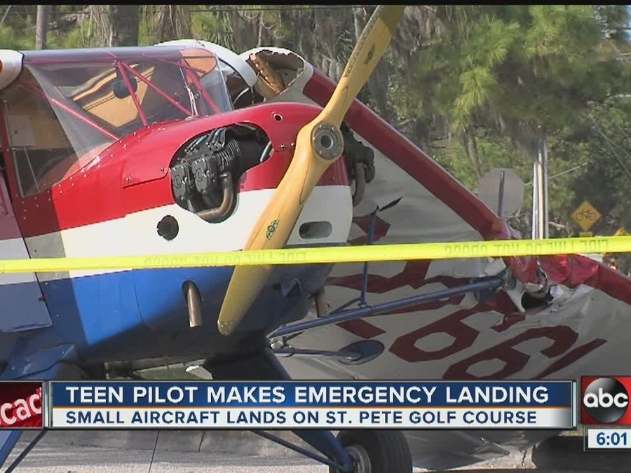 Plane Crashes on Golf Course