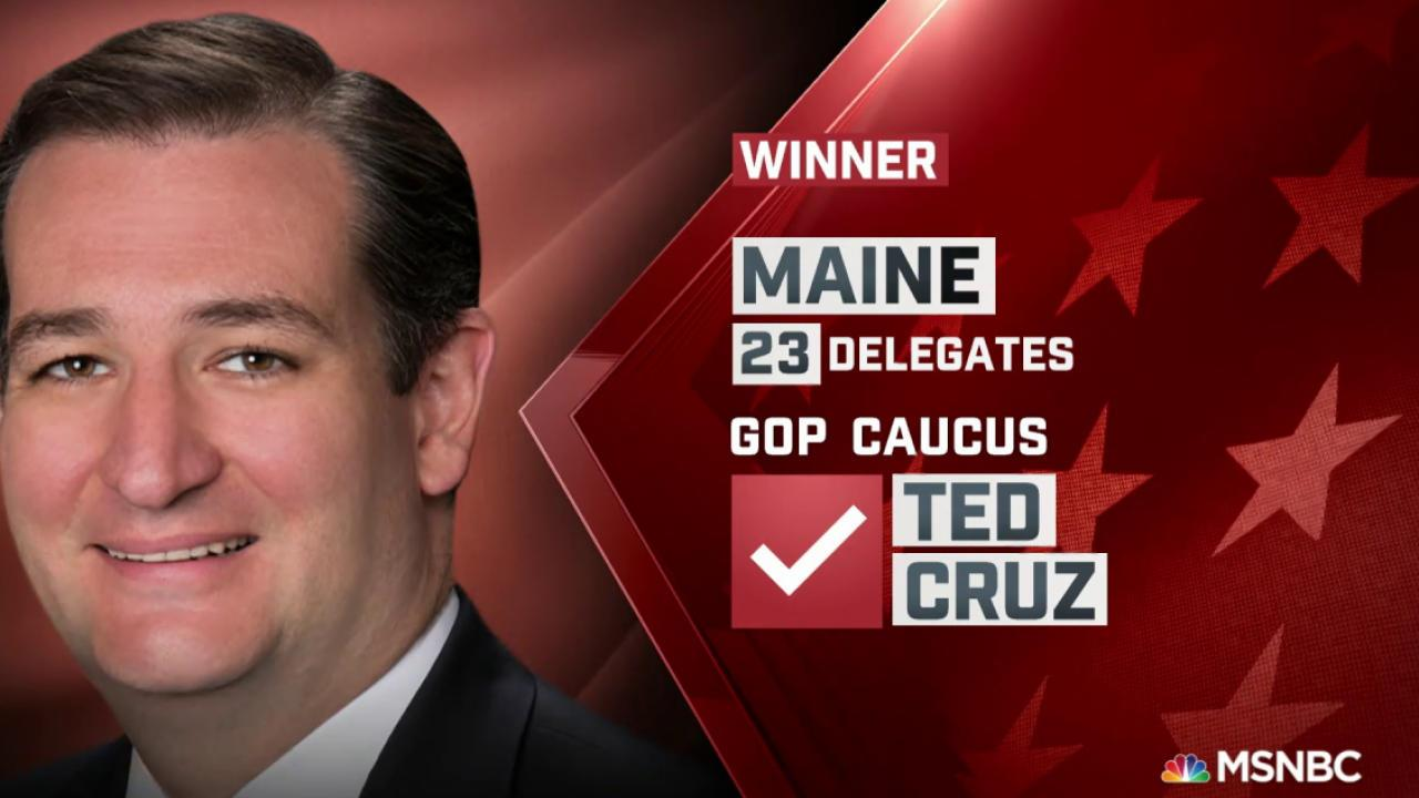Ted Cruz Named Winner of Maine