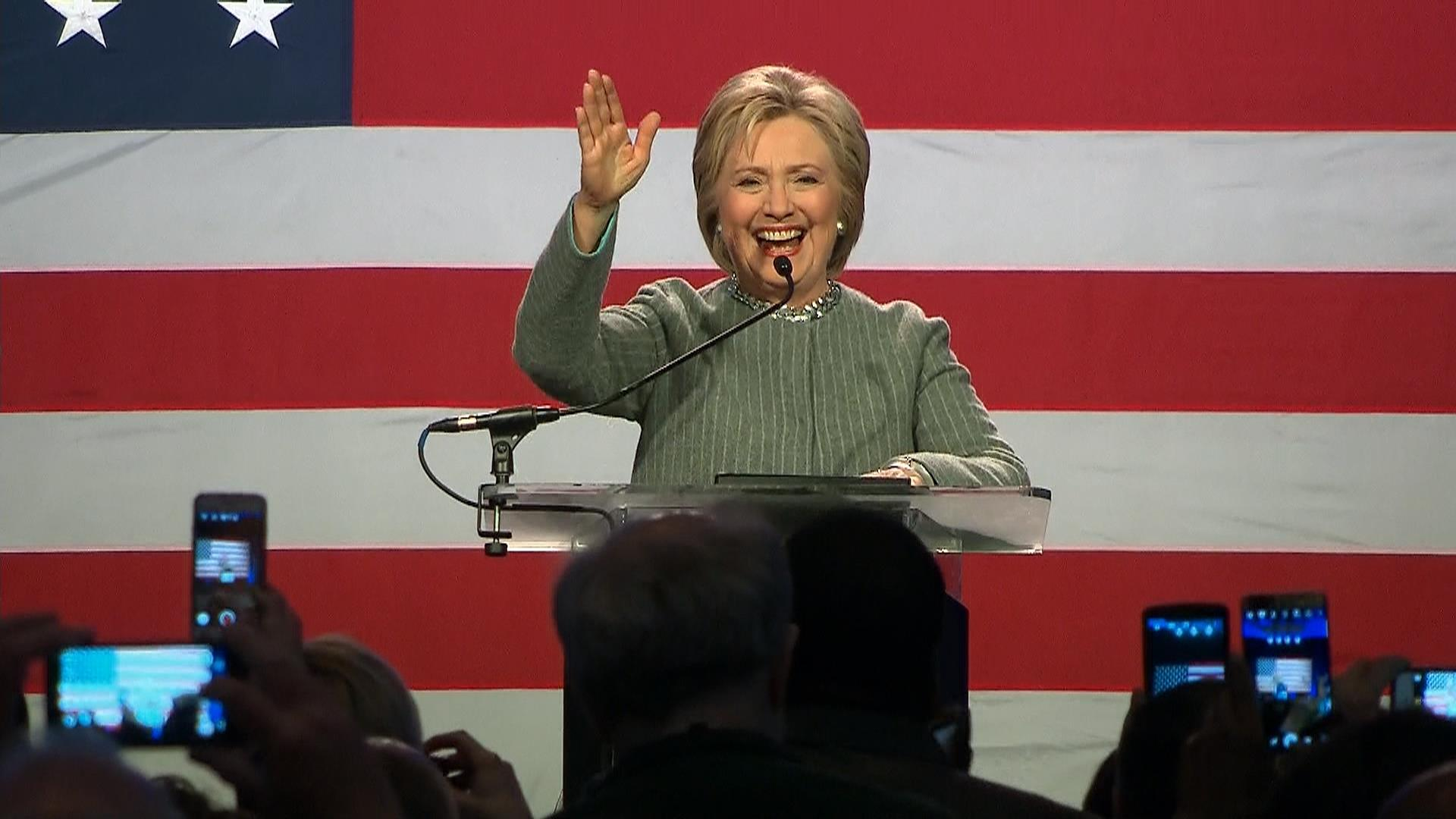 Clinton Speaks Ahead of Democratic Debate