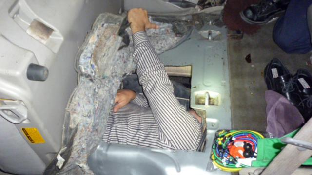 Man Caught Being Smuggled Across The Border In A Gas Tank