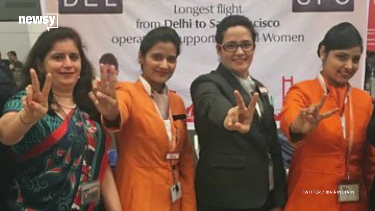 Air India Honors Women's Day With Longest Flight Crewed by Women