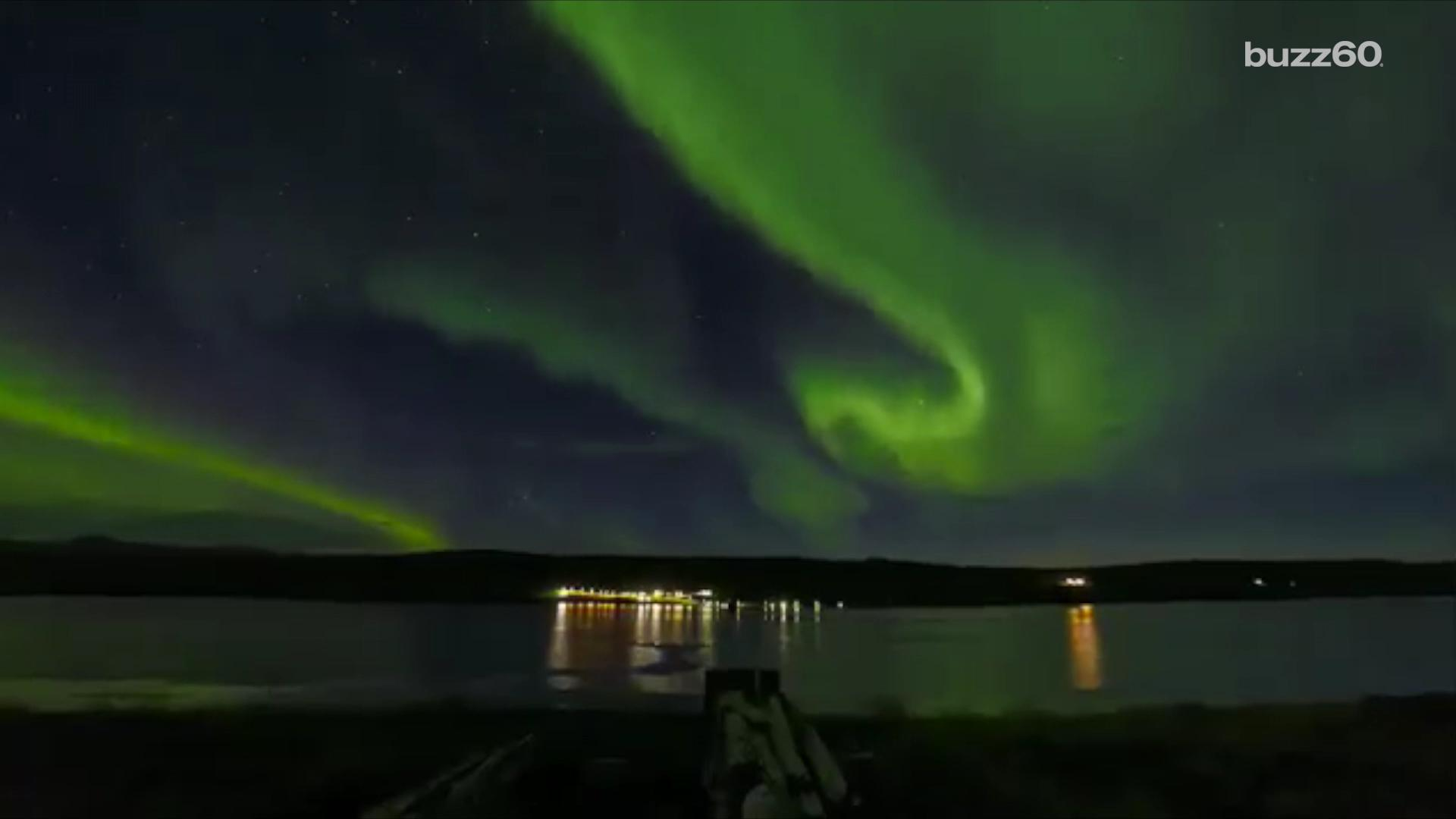 Spectacular Northern Lights Display Lights Up the Sky in the UK