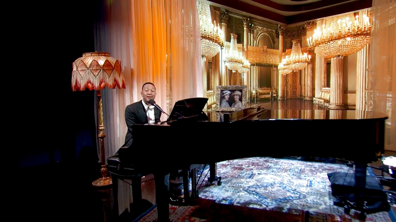 "'Jimmy Kimmel Live!': John Legend Adds Lyrics to the ""Downton Abbey"" Theme Song"