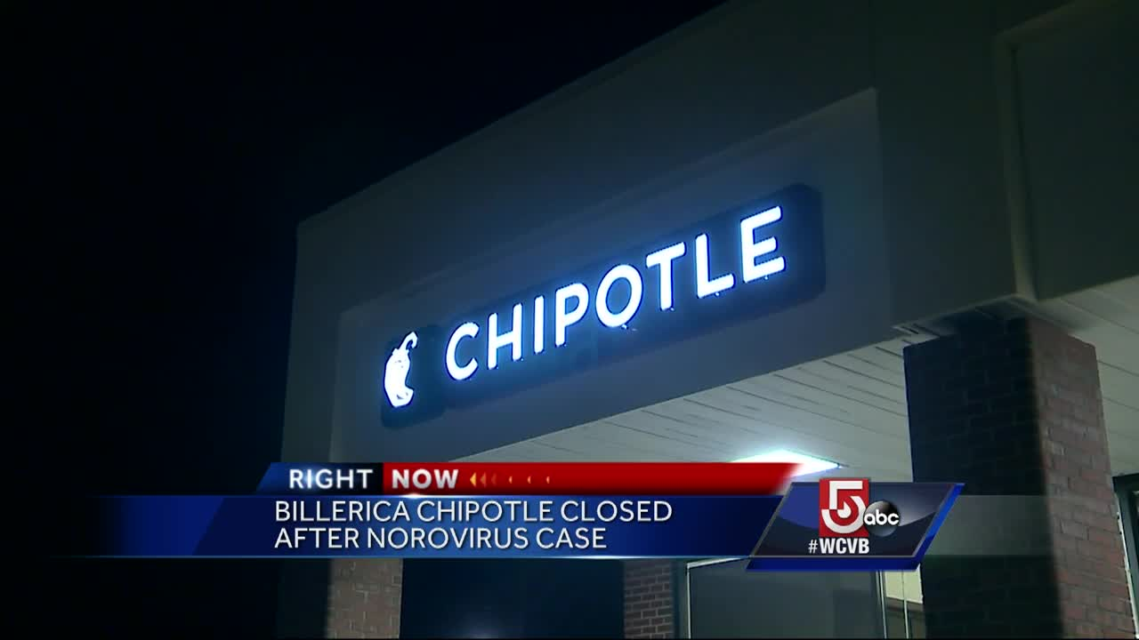 1 Chipotle Worker Diagnosed with Norovirus in Billerica