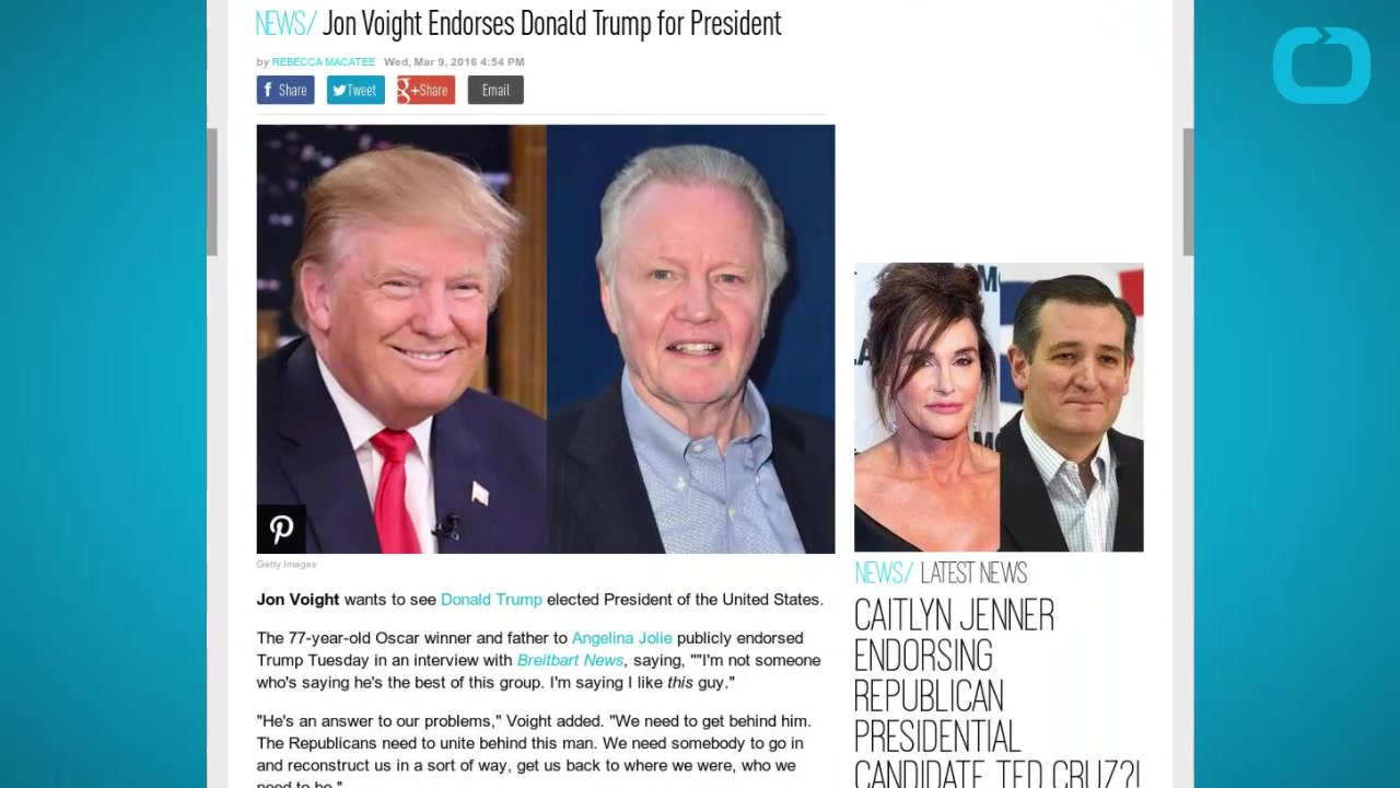 Jon Voight Endorses Donald Trump for President