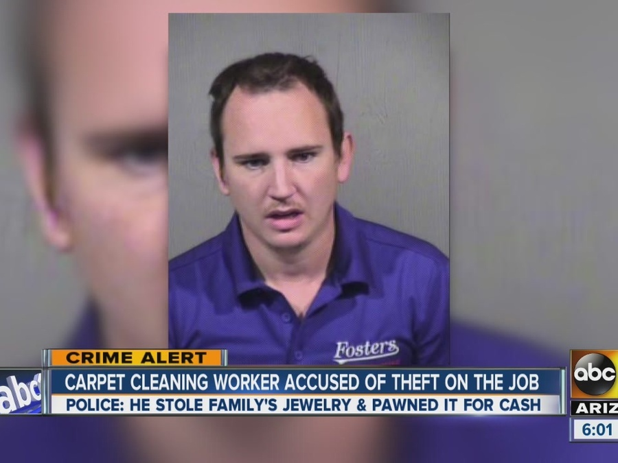 Carpet Cleaning Worker Accused of Theft on the Job