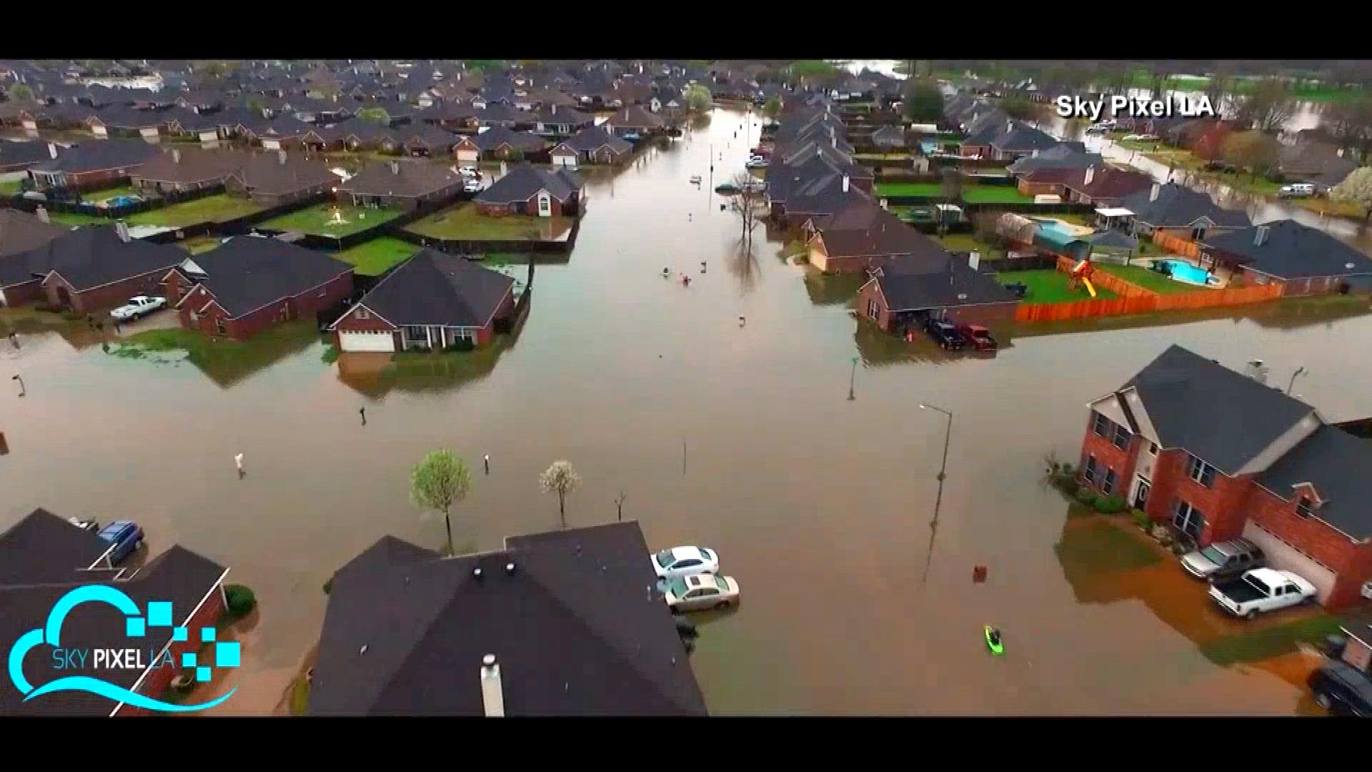 Dramatic Drone Footage Shows Scale of Louisiana Flooding