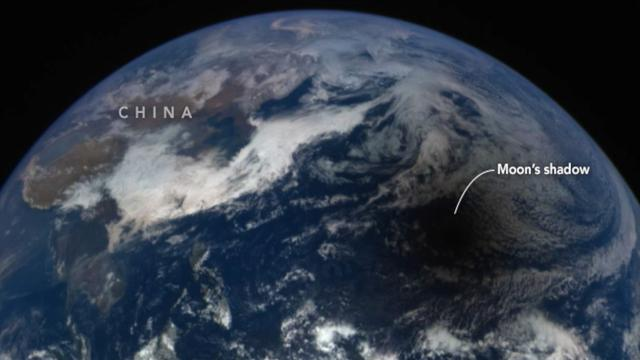 Incredible NASA Video Shows View Of Solar Eclipse From Space