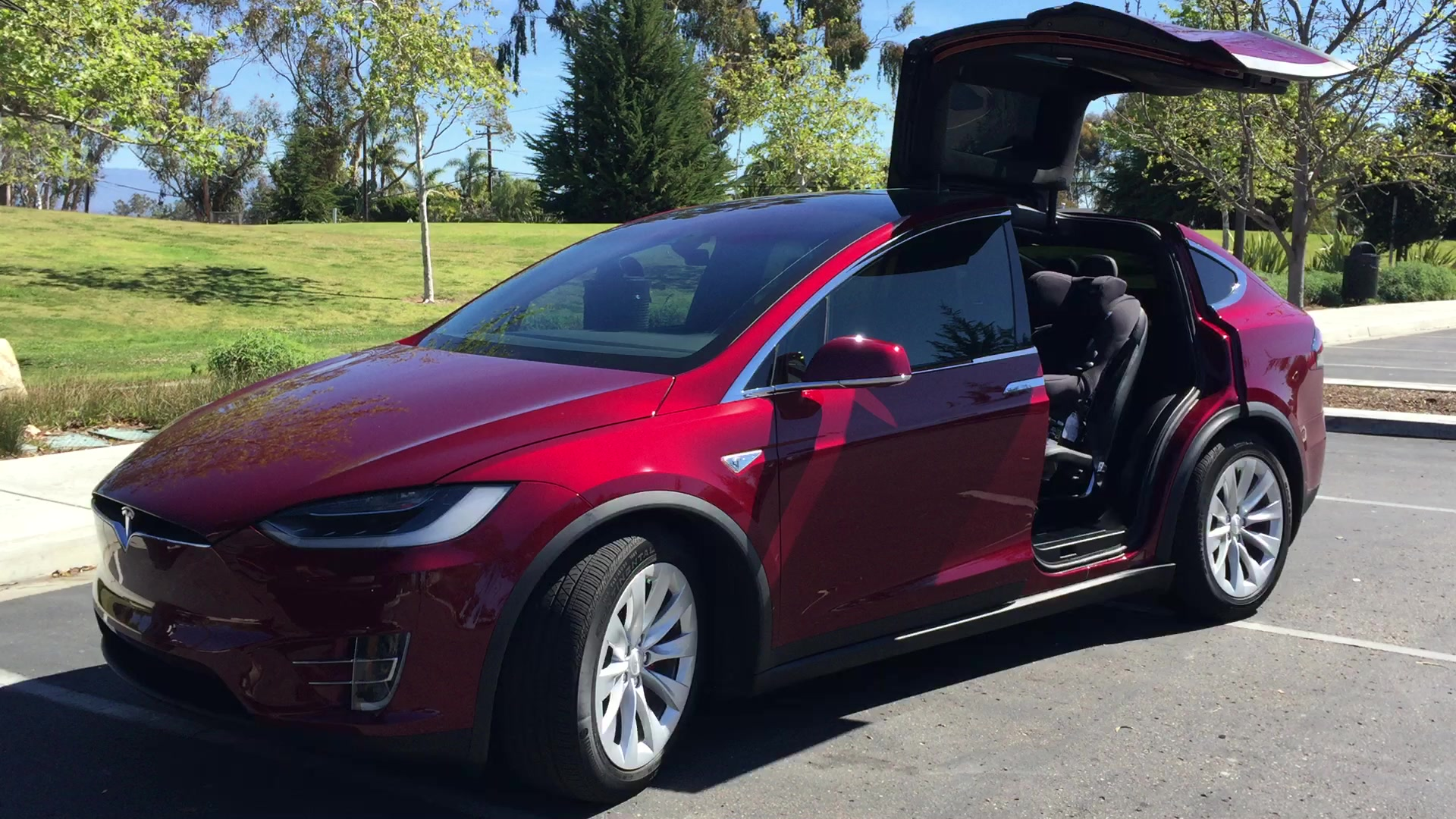 Tesla Model X Falcon Wing Doors Remote Control