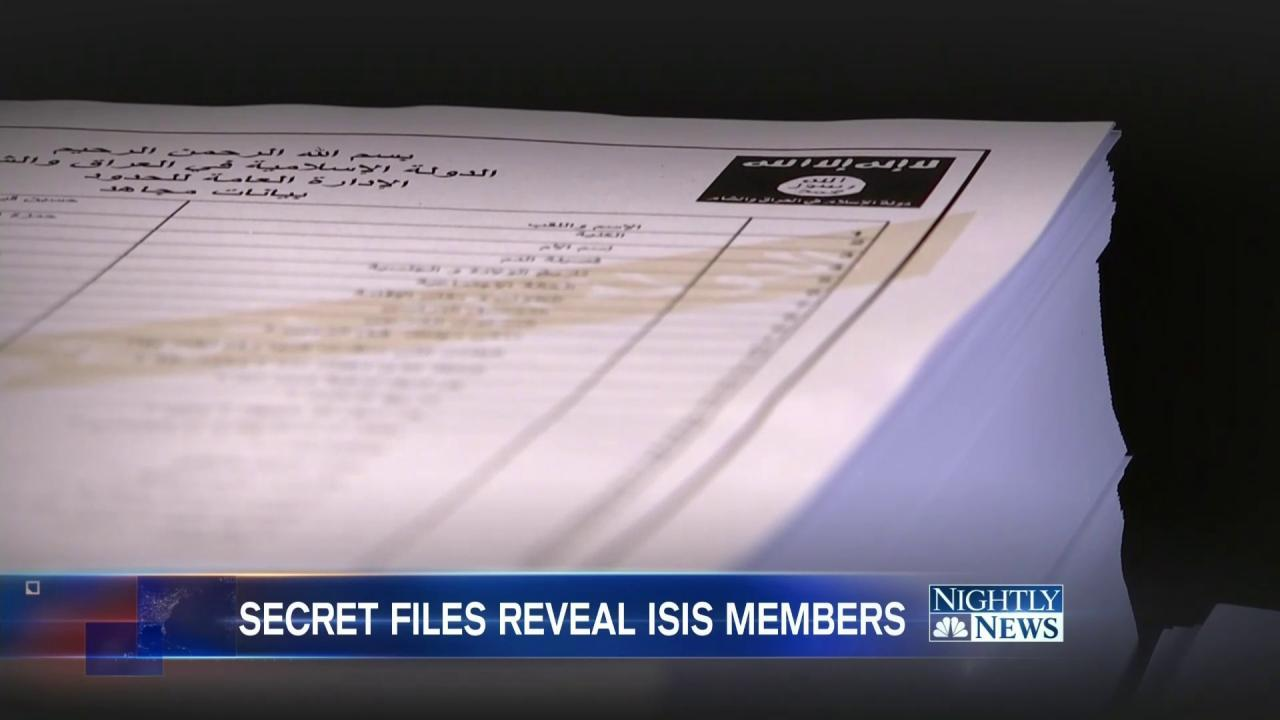 Leaked ISIS Recruitment Forms Give Rare Look Inside Terror Operation