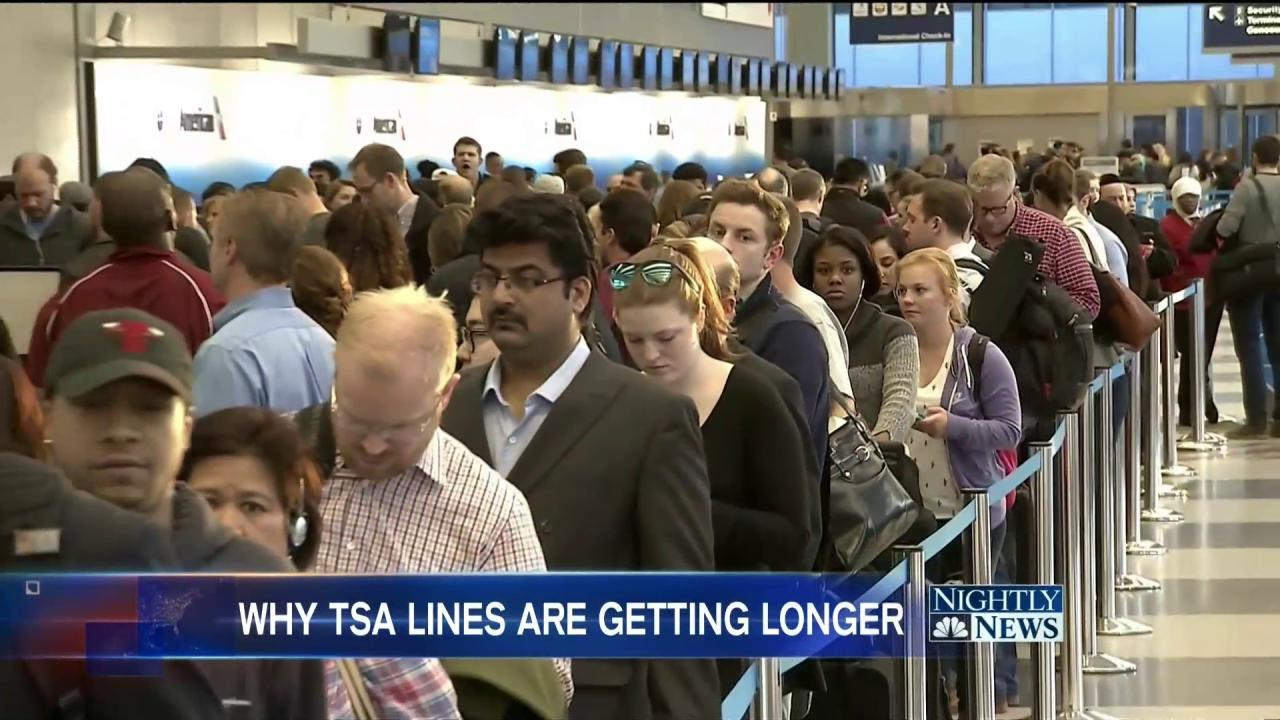 TSA Getting Called Out Over Long Lines at Airports Across U.S.