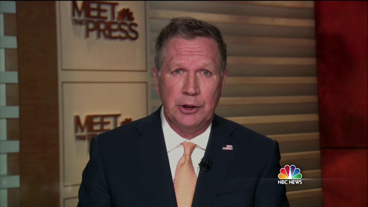 John Kasich on Trump: 'He's Not Going to Be the Nominee'