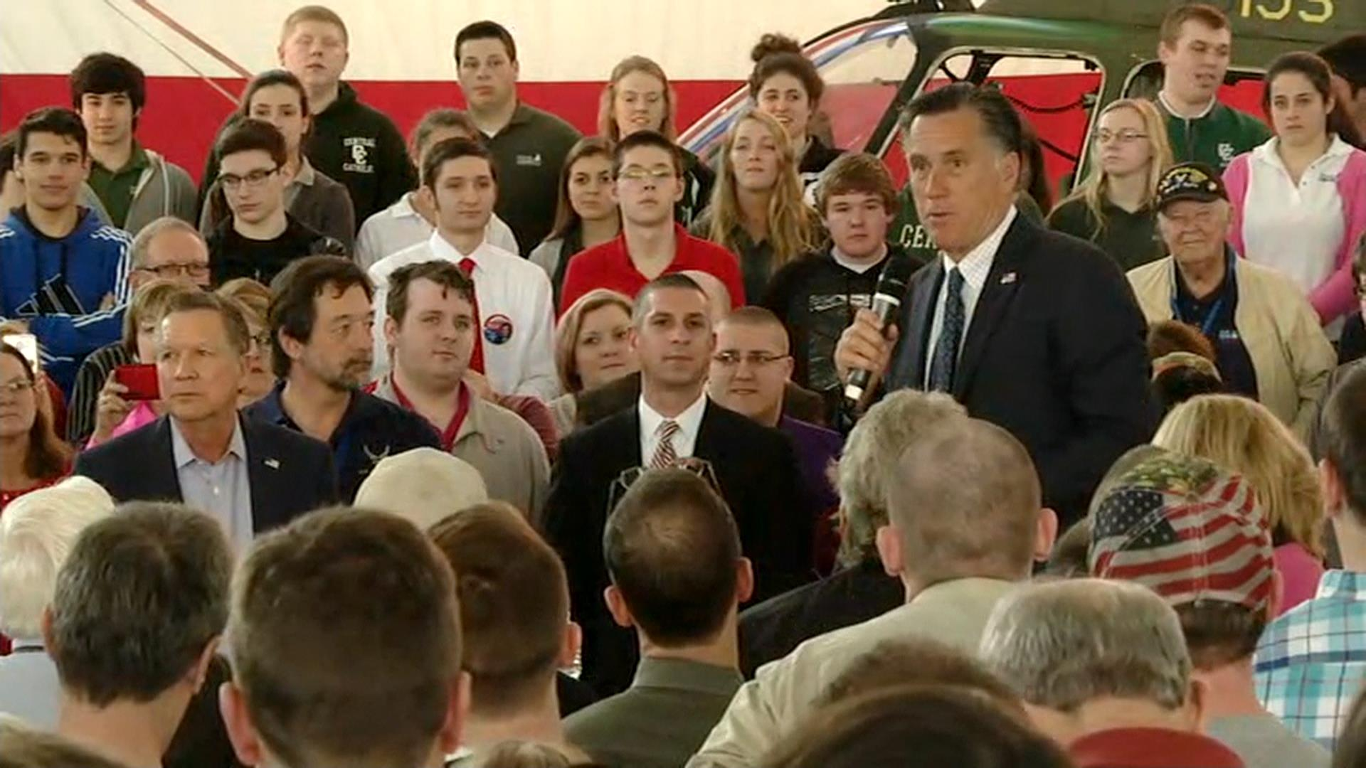 Romney Asks Ohio Voters to Support Kasich