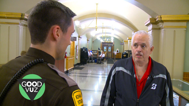 Iowa Man Reunites with Trooper Who Saved His Life