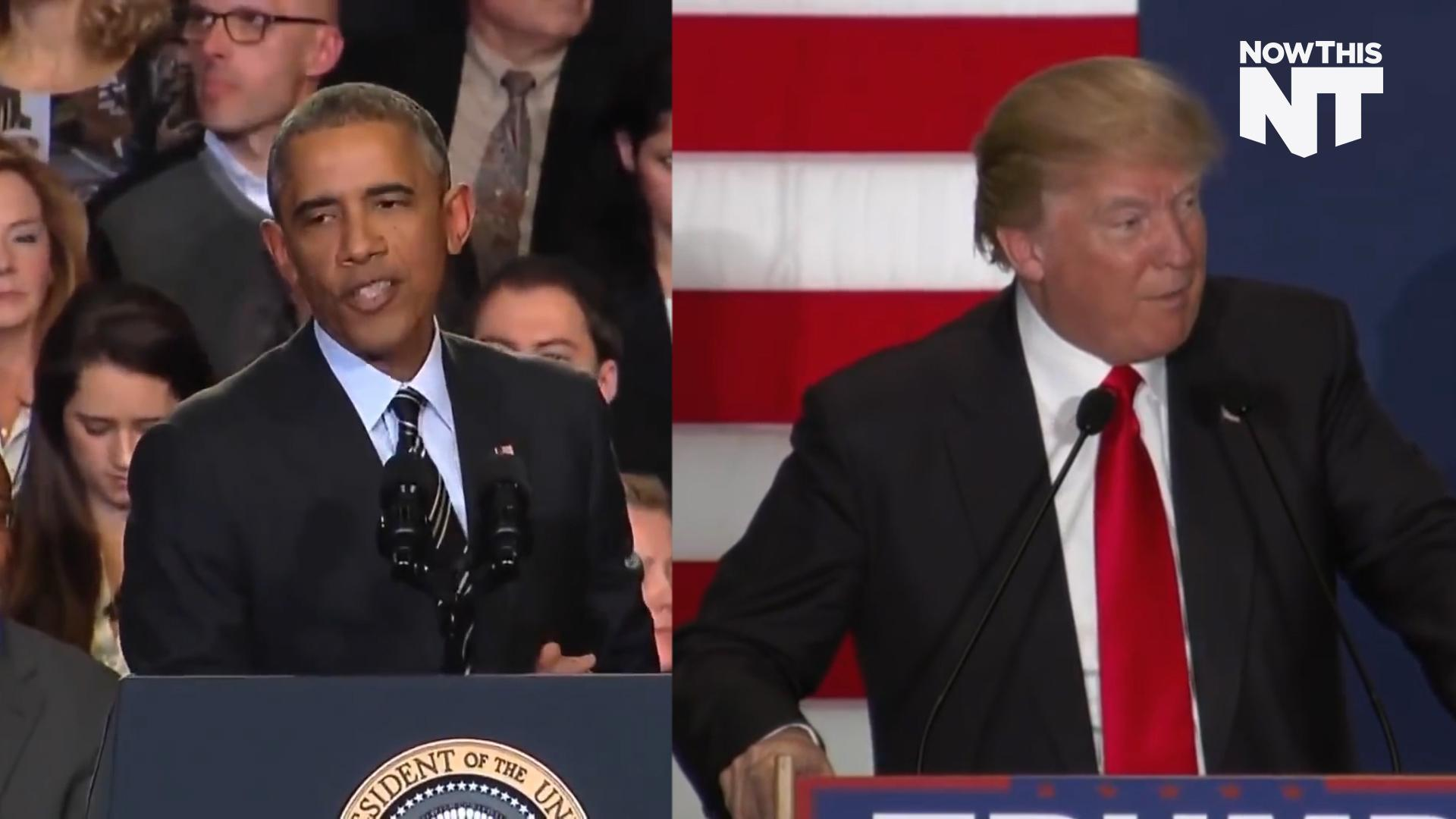 Obama's Response To Hecklers Vs. Trump