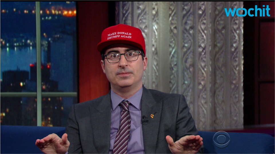 "Jay-Z Requested One of John Oliver's ""Donald Drumpf"" Hats"