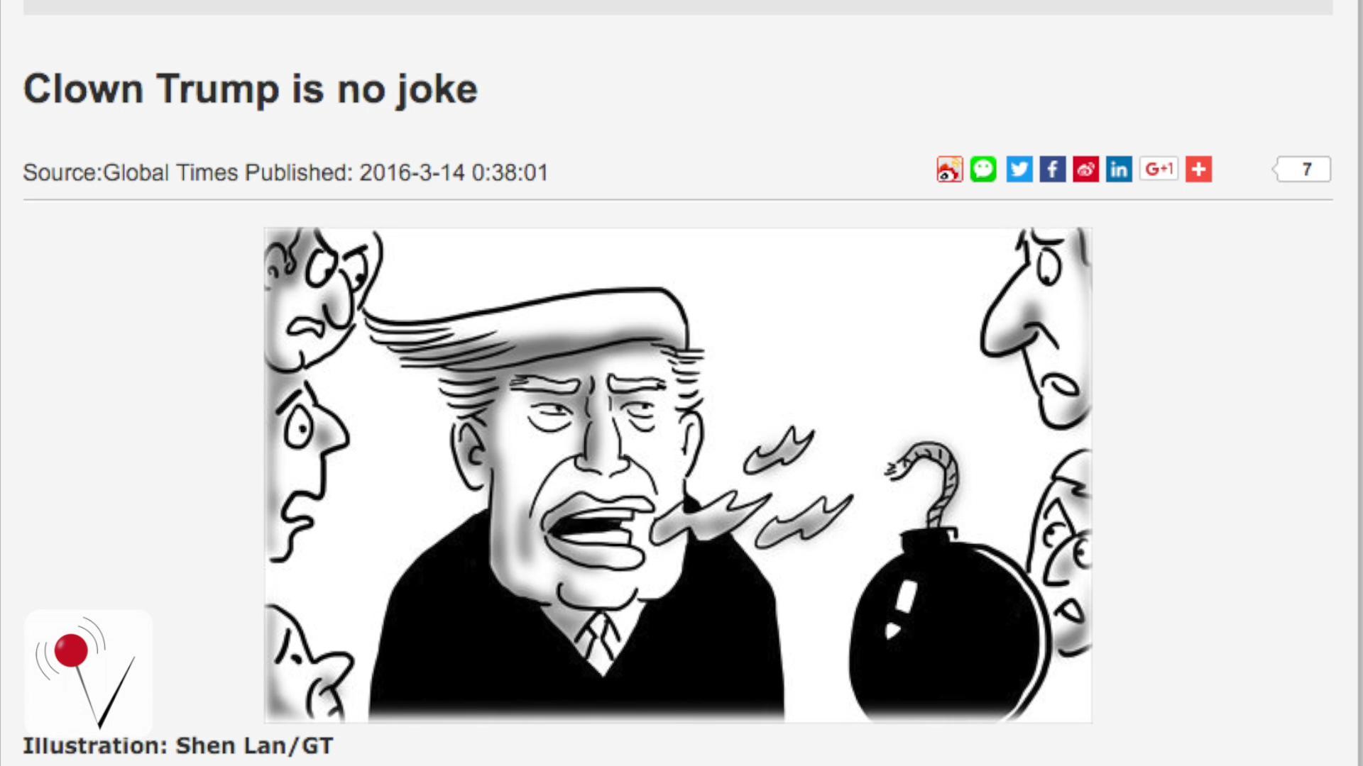 China Blames Democracy for Trump