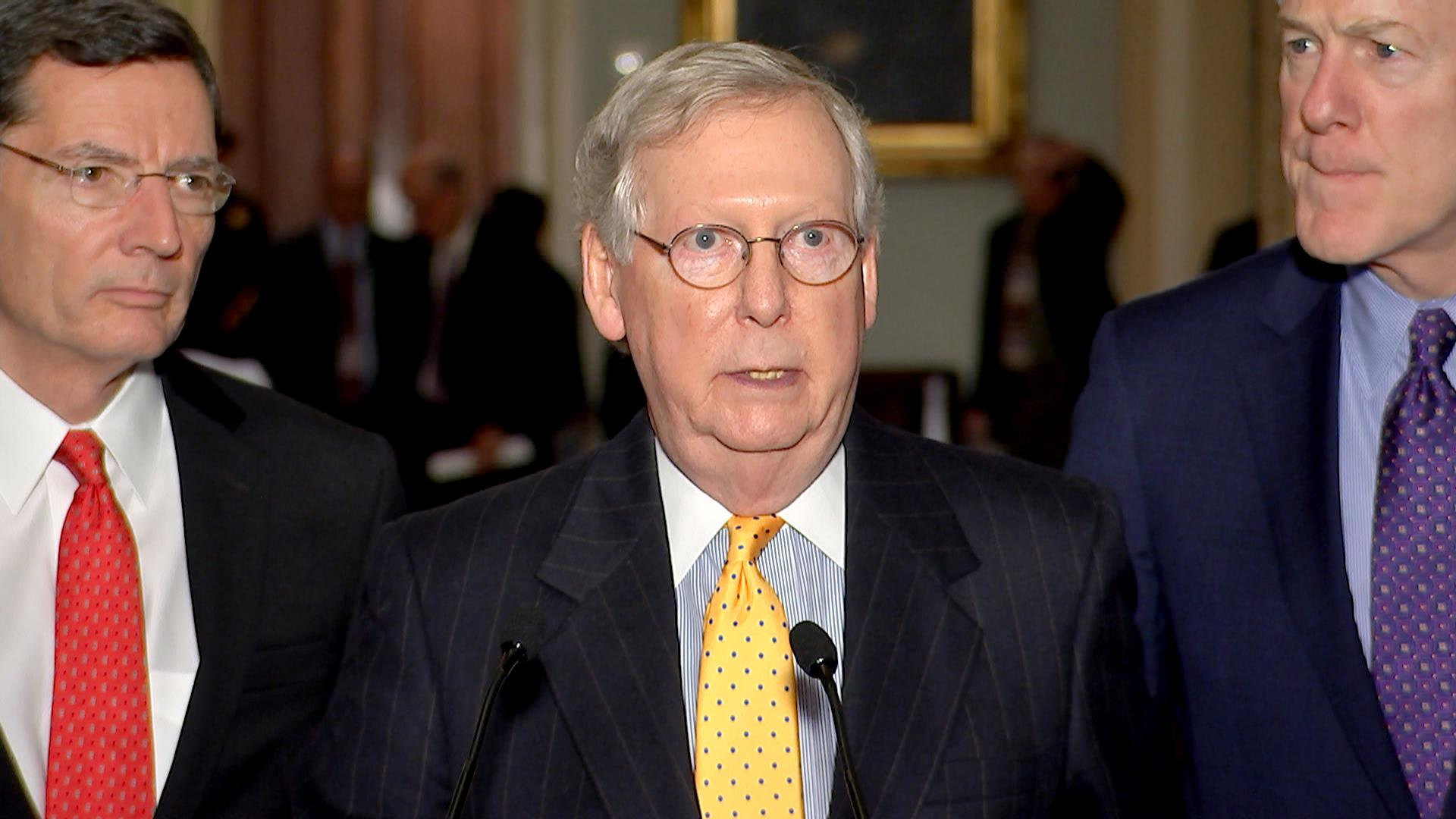 McConnell Advises Trump to Discourage Violence at Rallies