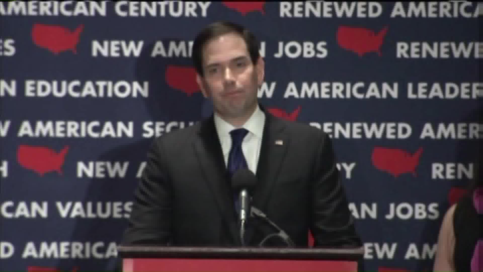 Sen. Marco Rubio Suspends Presidential Campaign