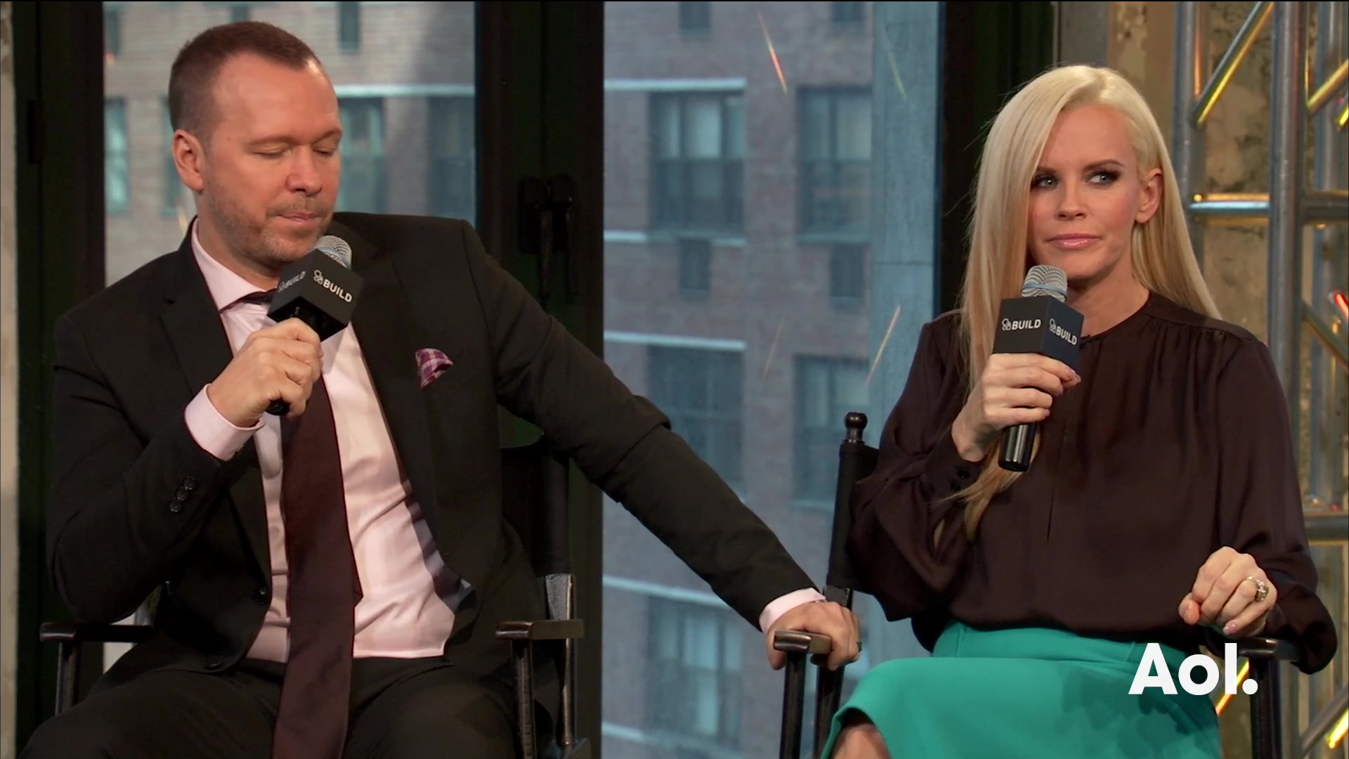 "Donnie Wahlberg and Jenny McCarthy on ""Donnie Loves Jenny"""