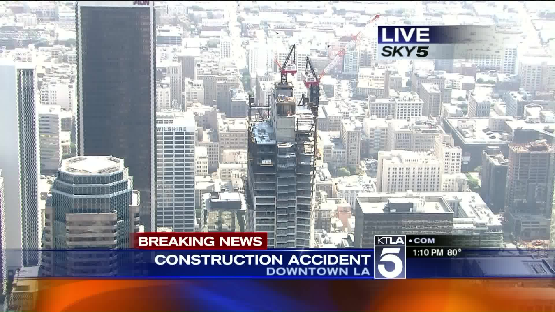 Construction Worker Dies After Falling From Tower, Landing On Passing Car