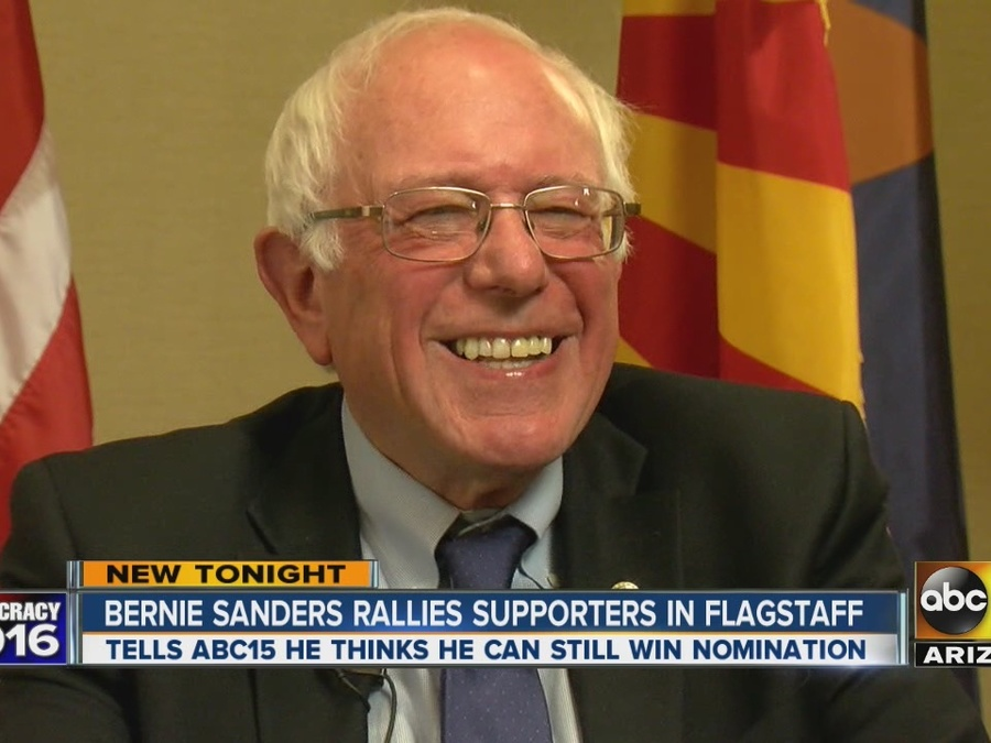Bernie Sanders Rallies Supporters in Flagstaff