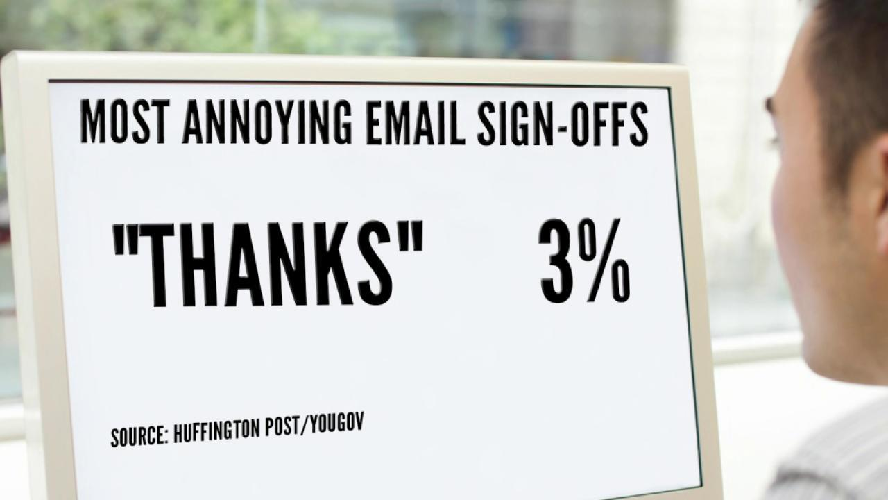 Cheers, Thanks or Best: What Your Email Sign-Off May Say About You