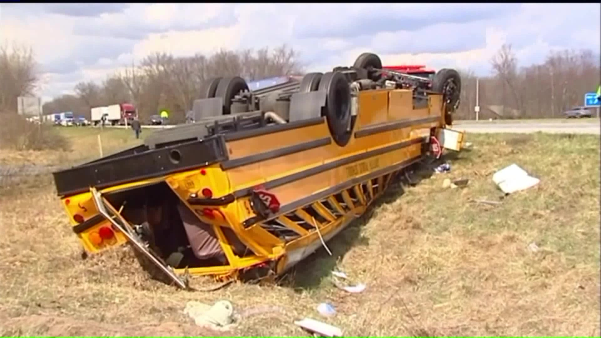 Several Students Injured in Indiana School Bus Crash