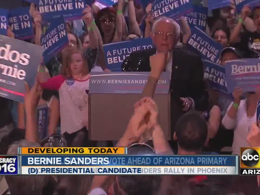 'Bern Felt' at Sanders Rally in Phoenix