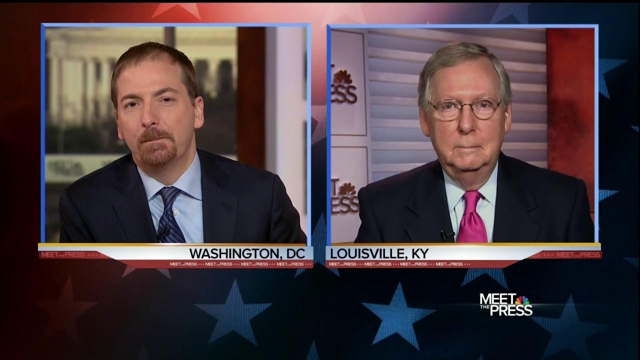 Full Interview: McConnell on Supreme Court Showdown