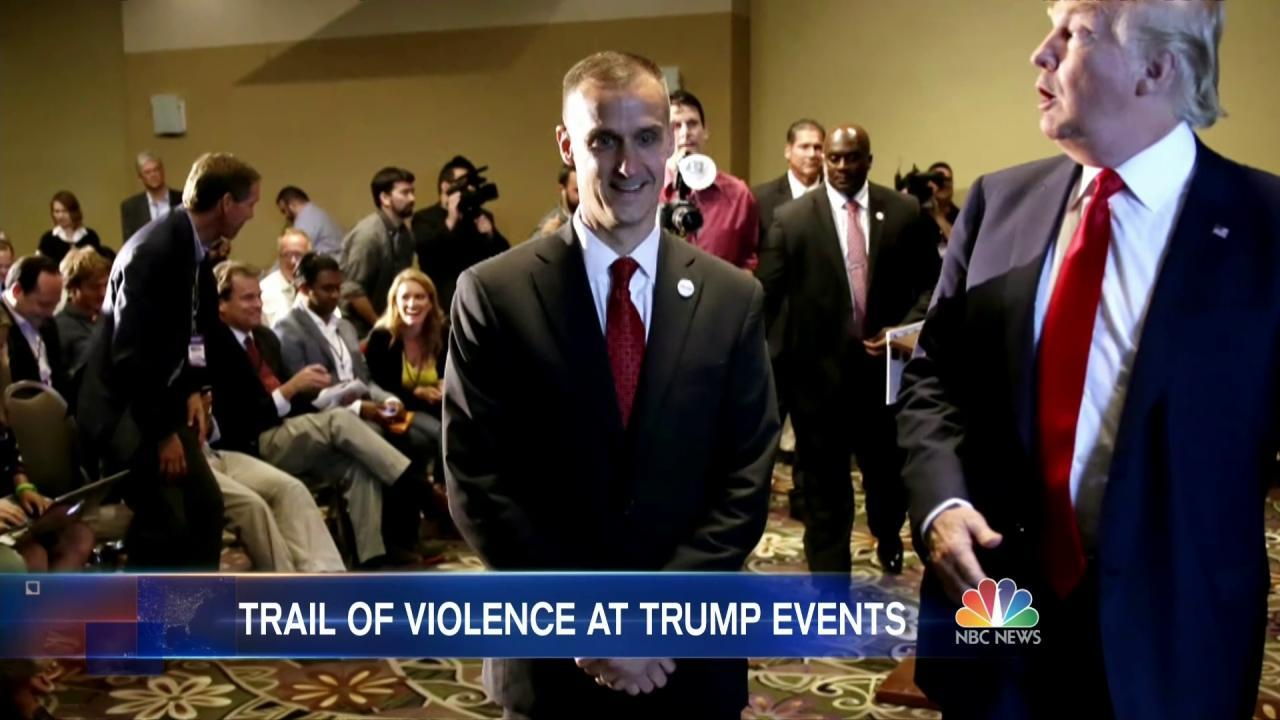 Trump's Campaign Manager Under Fire After Grabbing Protester at Rally