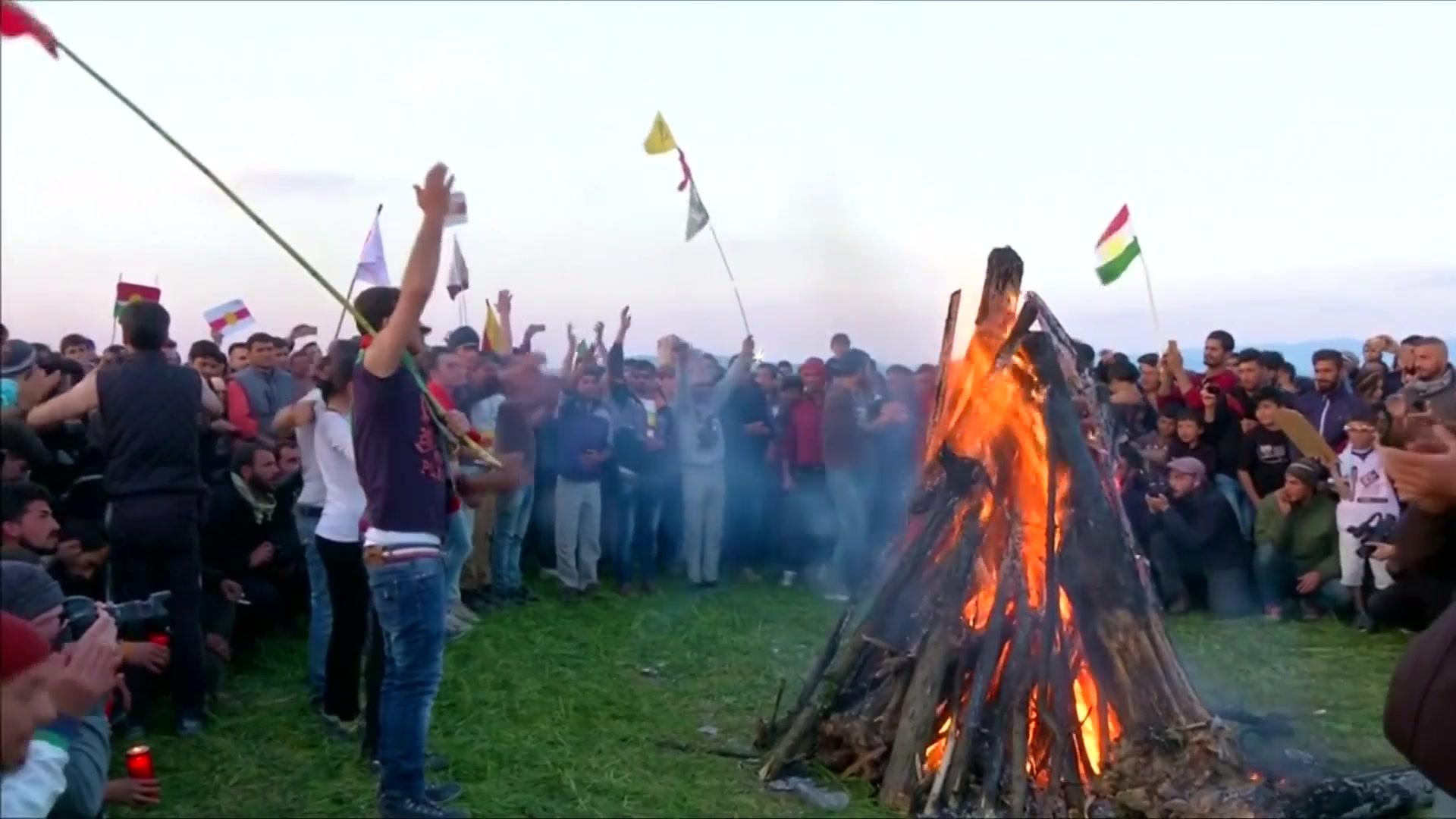 Migrant Kurds Celebrate 'Newroz' Spring Festival