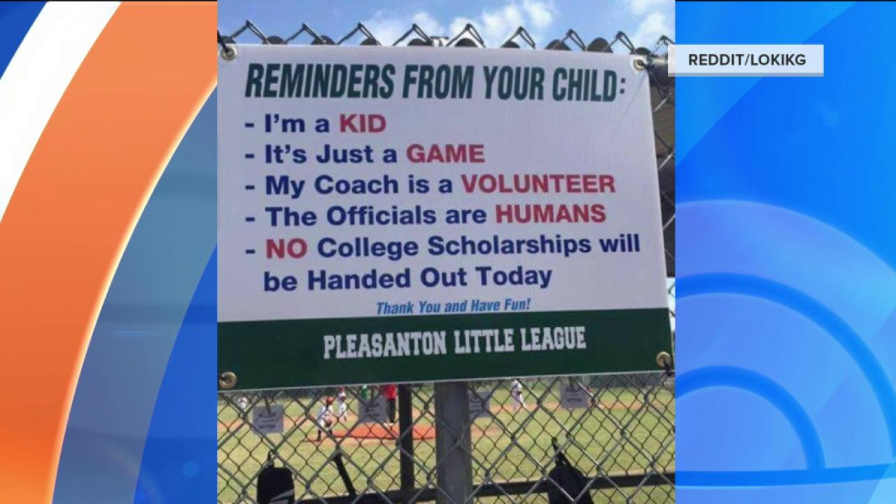 Little League Sign Reminds Parents: 'It's Just a Game'