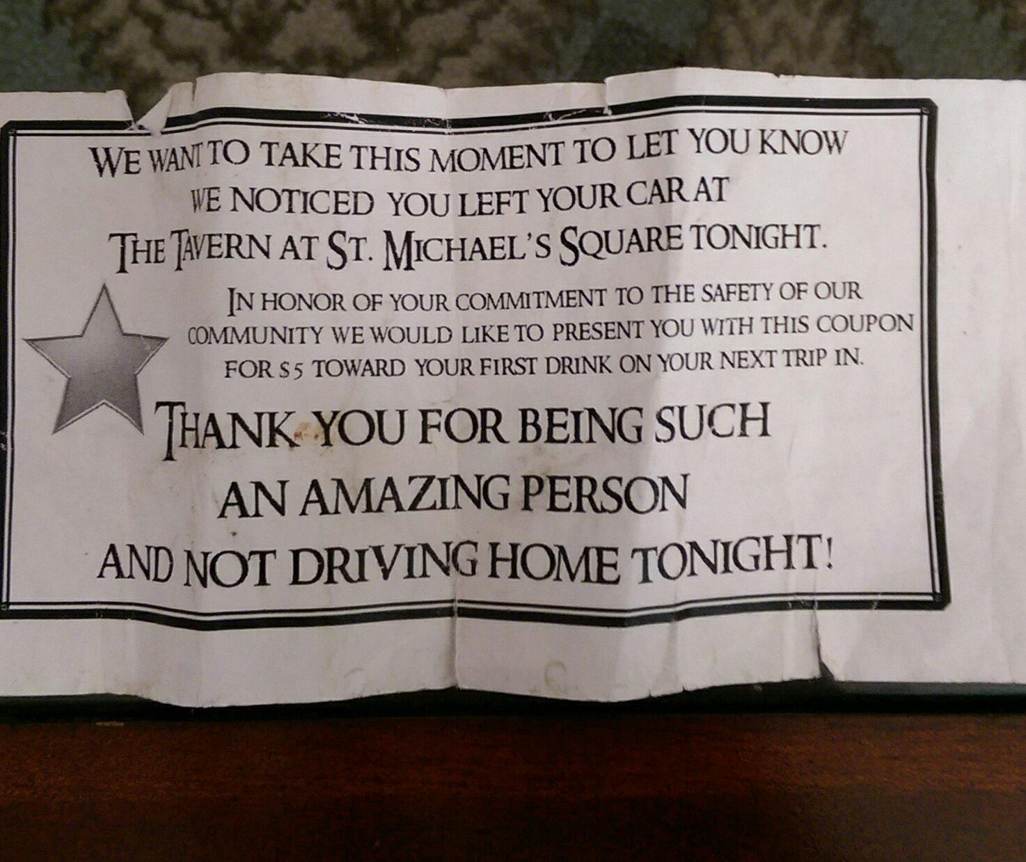 Bar's Thank You Note to 'Drunk Mess' Customer Goes Viral