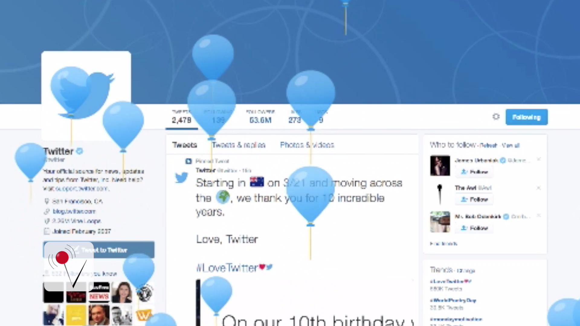 Twitter Turns 10 and Celebrates with Cool Video