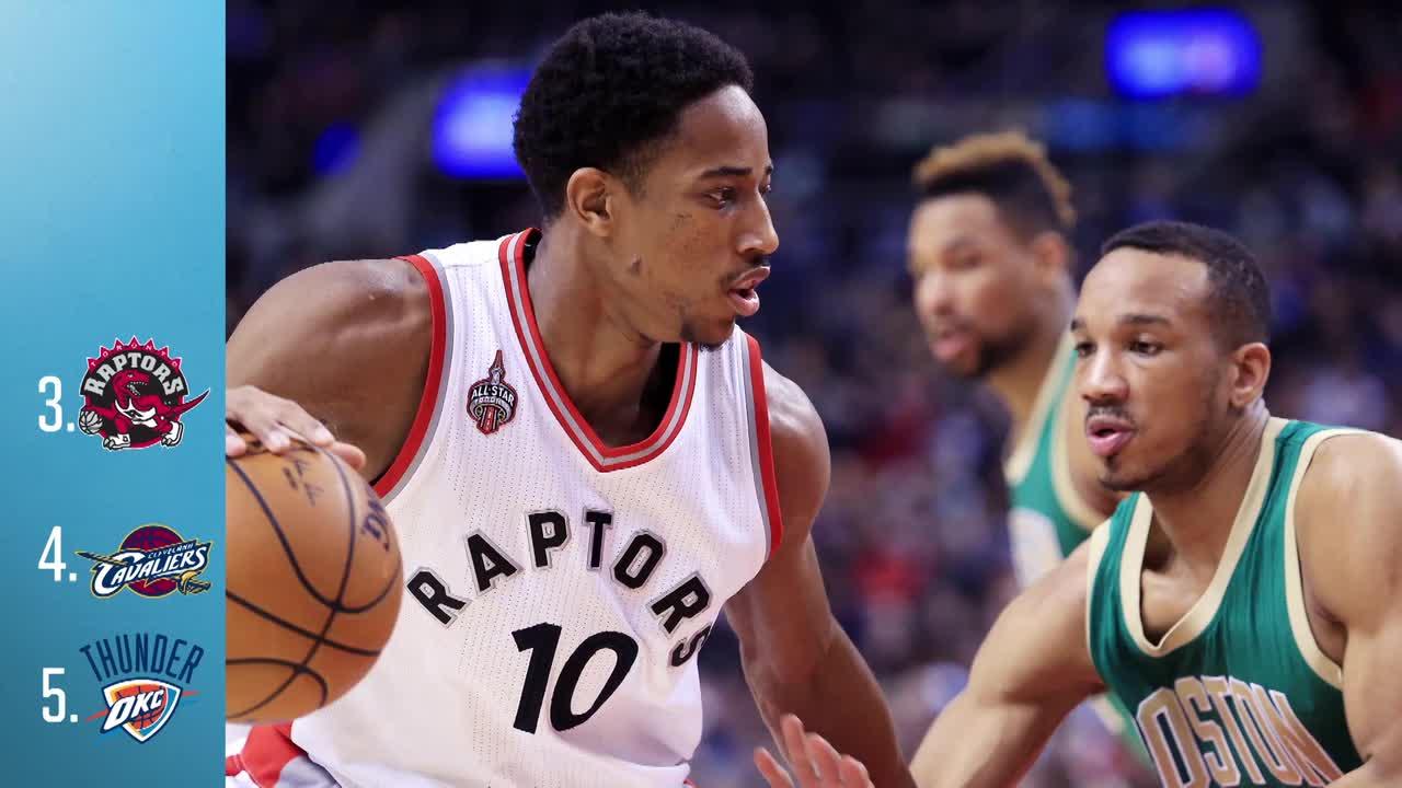 NBA Power Rankings: Raptors Chasing Down Cavaliers in East