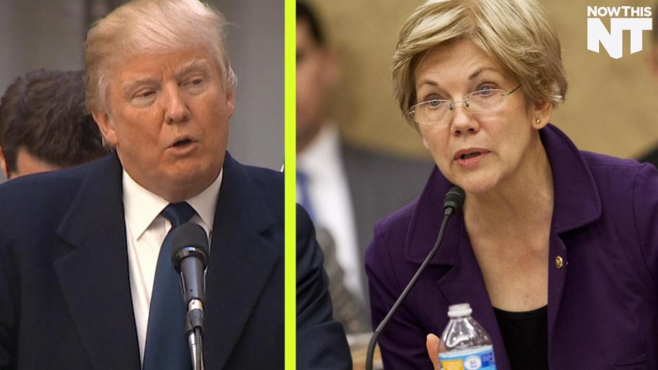 Donald Trump and Elizabeth Warren's Day-Long Feud