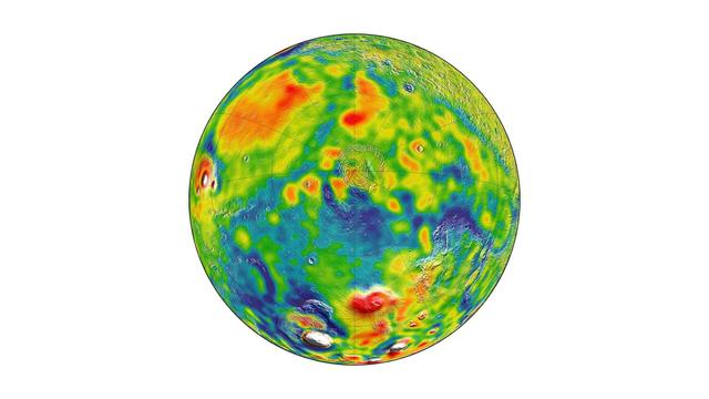 New Gravity Map Sheds Light On Mars' Mysterious Interiors