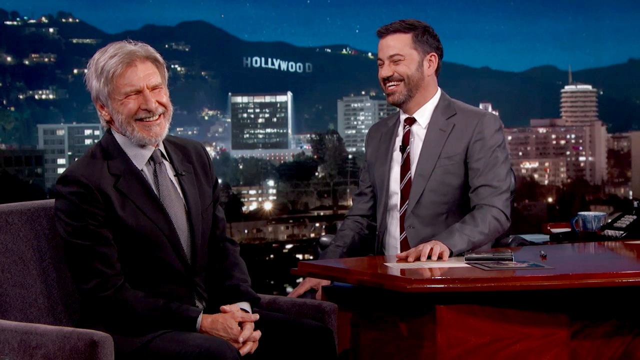 'Jimmy Kimmel Live!': Harrison Ford Is Excited to Play Indiana Jones Again