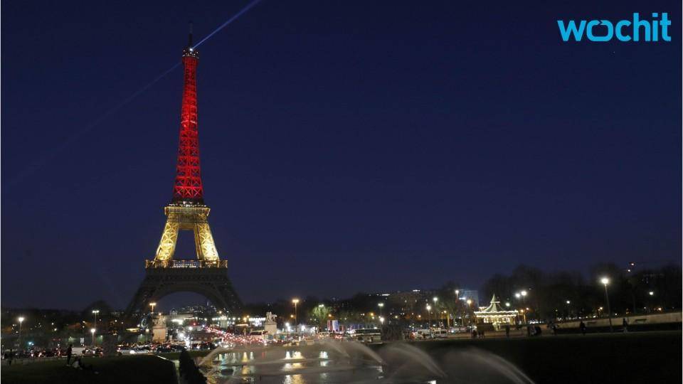 Paris Illuminates Eiffel Tower In Solidarity With Brussels