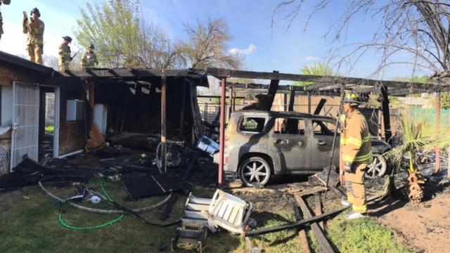 Sun Reflecting Off Mirrored Headboard Sets Carport Ablaze In Fresno