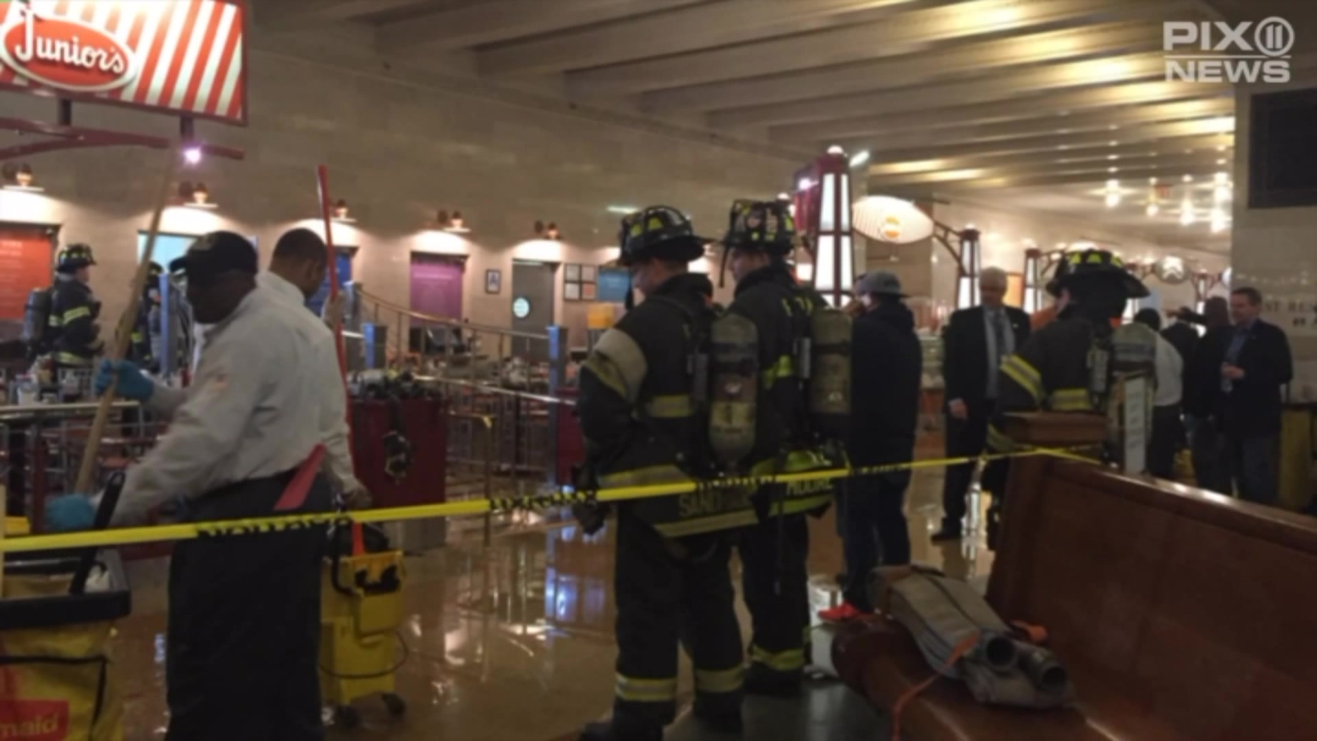 Fire In Restaurant Sends Smoke Billowing From Grand Central Station