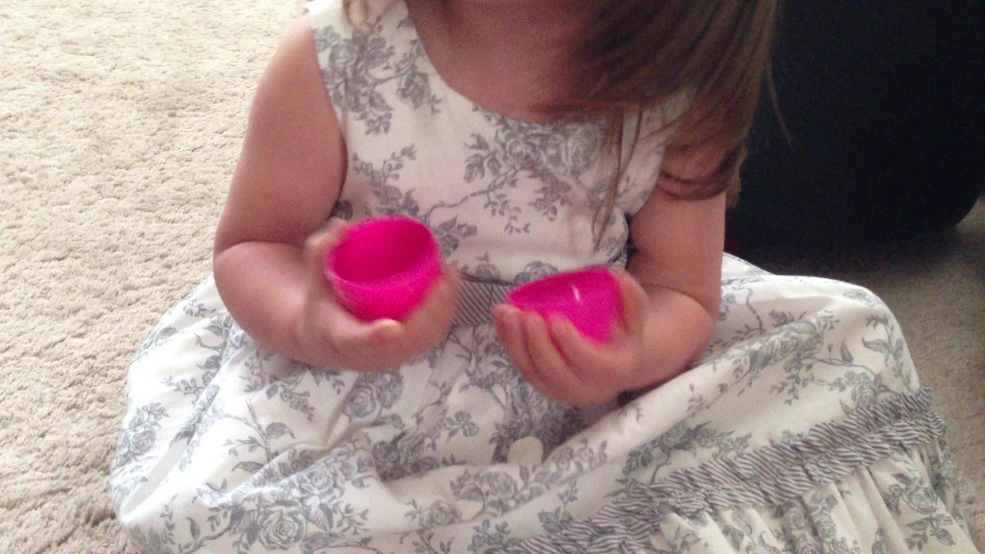Little Girl Eats Easter Bunny Poop