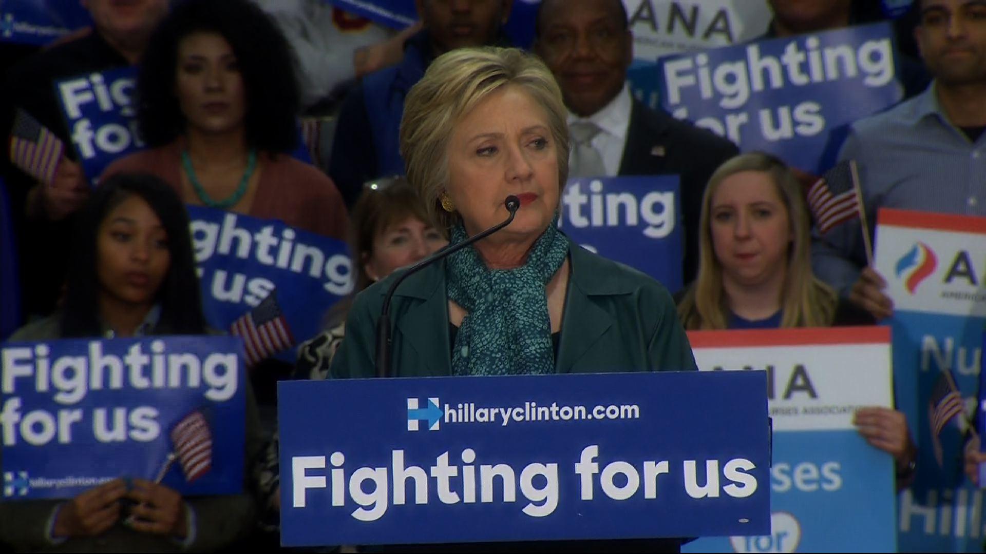 Hillary Clinton in Washington After Arizona Victory