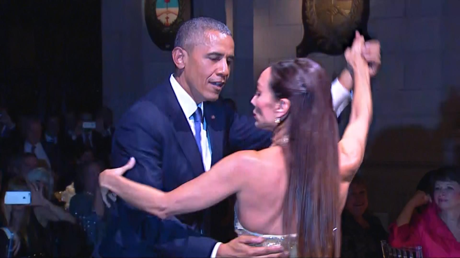 President Obama Does The Tango
