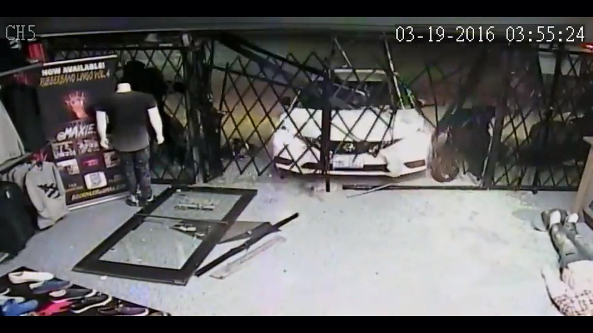Surveillance Video Captures 'Smash and Grab'