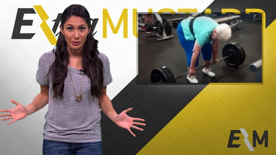 Mustard Minute: 78 Year Old woman Deadlifts 225 Pounds Like a Boss