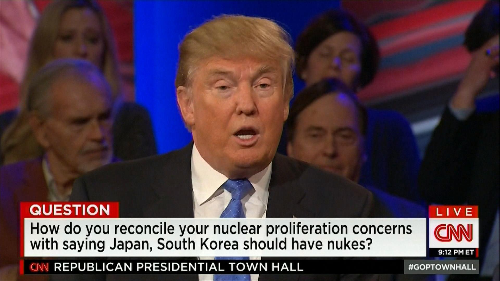 Trump on Changing Nuclear Policy with Japan