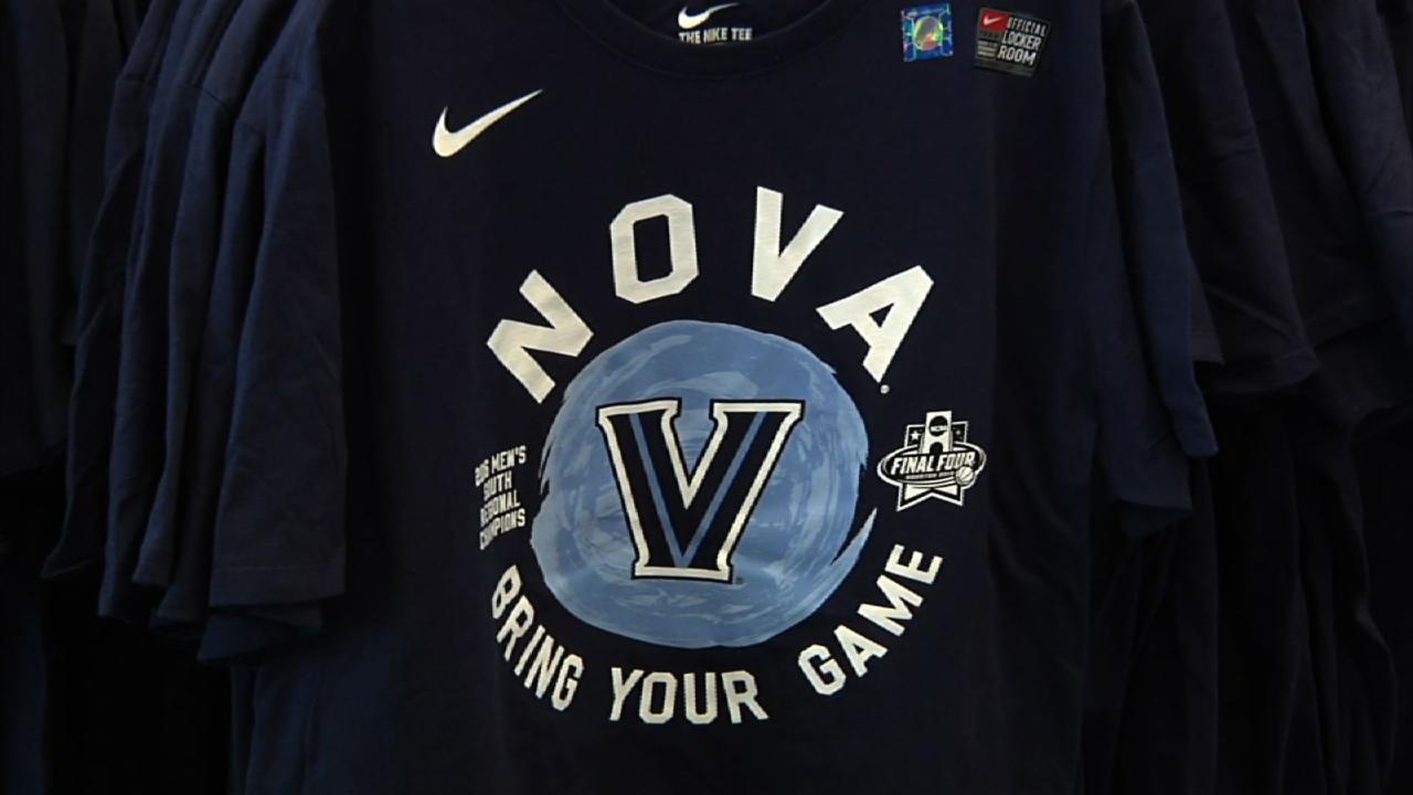Villanova Fans Snap up Gear for Final Four